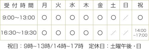 豊川本店:営業時間